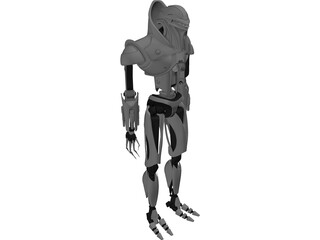 Vipers Battlestar Armored Robot 3D Model