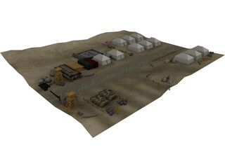US Military Camp 3D Model