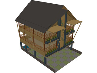 Bamboo Cafe 3D Model