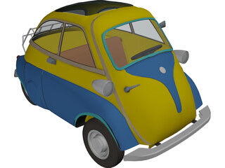 BMW Isetta 250 (1956-1962) [+Interior] 3D Model