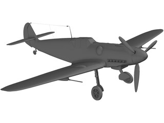 Messerschmitt BF-109G 3D Model