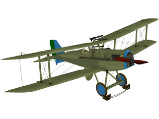 Royal Aircraft Factory S.E.5 (RAF) 3D Model