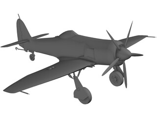 Hawker Sea Fury FB 11 3D Model