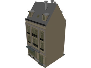 Town House 3D Model