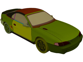 Ford Mustang Coupe (1996) 3D Model
