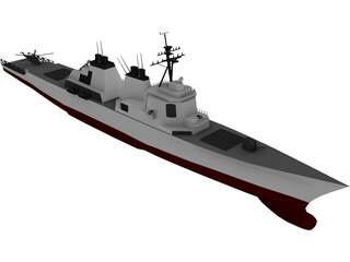 DDG-51 Arleigh Burke Class Destroyer 3D Model