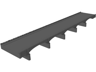 Old River Bridge 3D Model