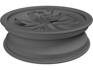Motorcycle 17inch Front Rim 3D Model