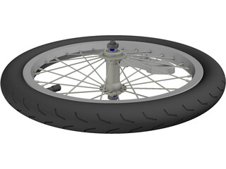 Wheel Bike Spoked 3D Model