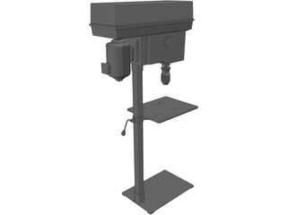 Electric Stand Drill 3D Model