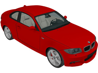 BMW 135i E82 Coupe (2009) 3D Model
