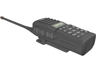 ICOM Handheld Radio Model F43 3D Model