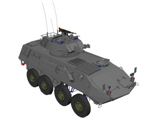 Piranha Military ATV/Tank 3D Model