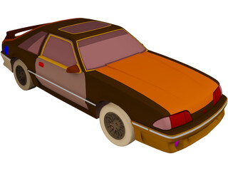Ford Mustang (1989) 3D Model
