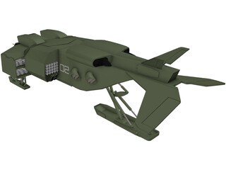 UD 1L Drop Ship 3D Model