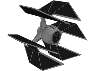 Star Wars Tie Defender 3D Model