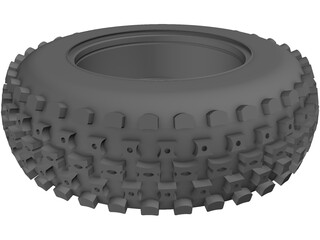 Wheel and Tire ATV Front 3D Model