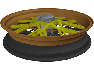 Motorcycle Rim Racing 3D Model