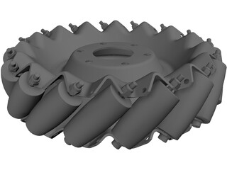 Mecanum Wheel Left 3D Model