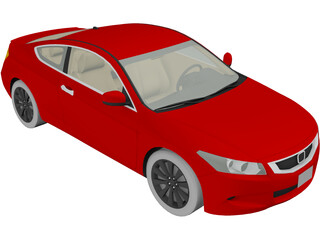 Honda Accord Coupe (2009) 3D Model