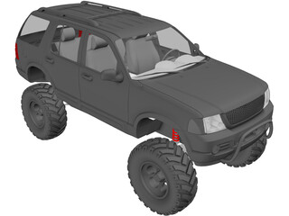 Ford Explorer [Lifted] (2002) 3D Model