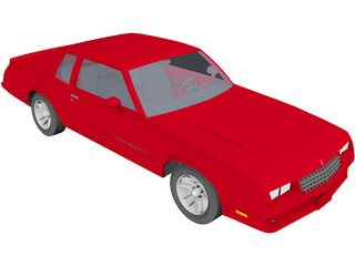 Chevrolet Monte Carlo SS (1986) 3D Model