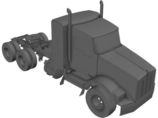 Kenworth T800 Tandem Truck 3D Model