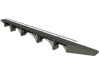 Bloor Viaduct Bridge 3D Model