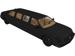 Cadillac Limo (2007) 3D Model