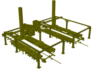 Dual Gantry Robotic System 3D Model