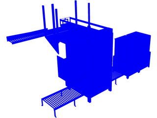 Top Load Palletizer with Pallet Destacker 3D Model