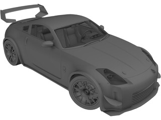 Nissan 350Z Fairlady Tuning GT 3D Model