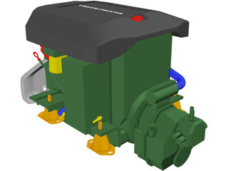 Volvo Penta D3 Marine Engine 3D Model