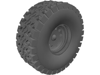 Tire BFGoodrich All-Terrain 3D Model