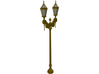 Old French Urban Light 3D Model