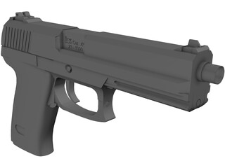 Heckler Koch Mk 23 Socom 3D Model
