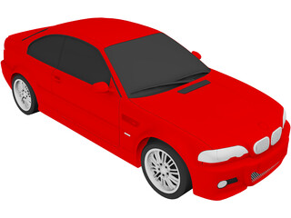 BMW M3 Coupe (2001) 3D Model