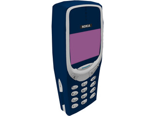 Nokia 3310 Mobile Phone 3D Model