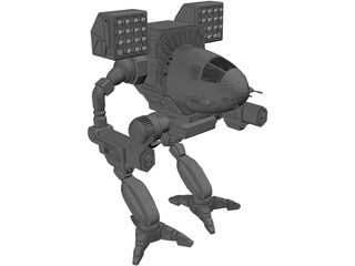 Mad Cat Battle Mech 3D Model