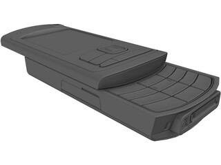 Nokia N-80 Mobile Phone 3D Model