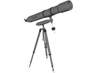 Potable Telescope T430 3D Model