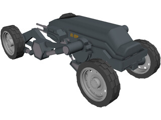 A1-K59 Military Vehicle 3D Model