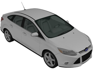 Ford Focus Sedan (2011) 3D Model
