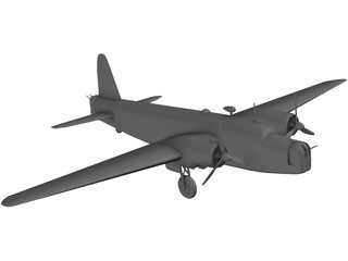 RAF Vickers Wellington Mk.1 3D Model