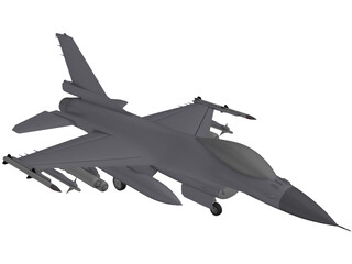 F-16 Fighting Falcon 3D Model