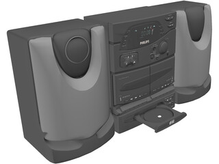 Philips Audio Mini-System 3D Model