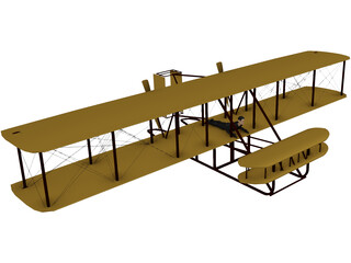 Wright Brothers Plane 3D Model