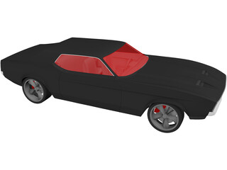 Ford Mustang Coupe (1971) 3D Model