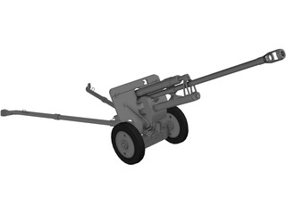 ZiS-3 76mm Divisional Gun M1942 3D Model