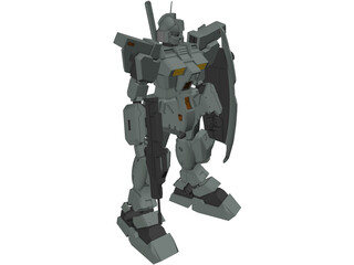 Gundam RGM-79N GM Custom 3D Model